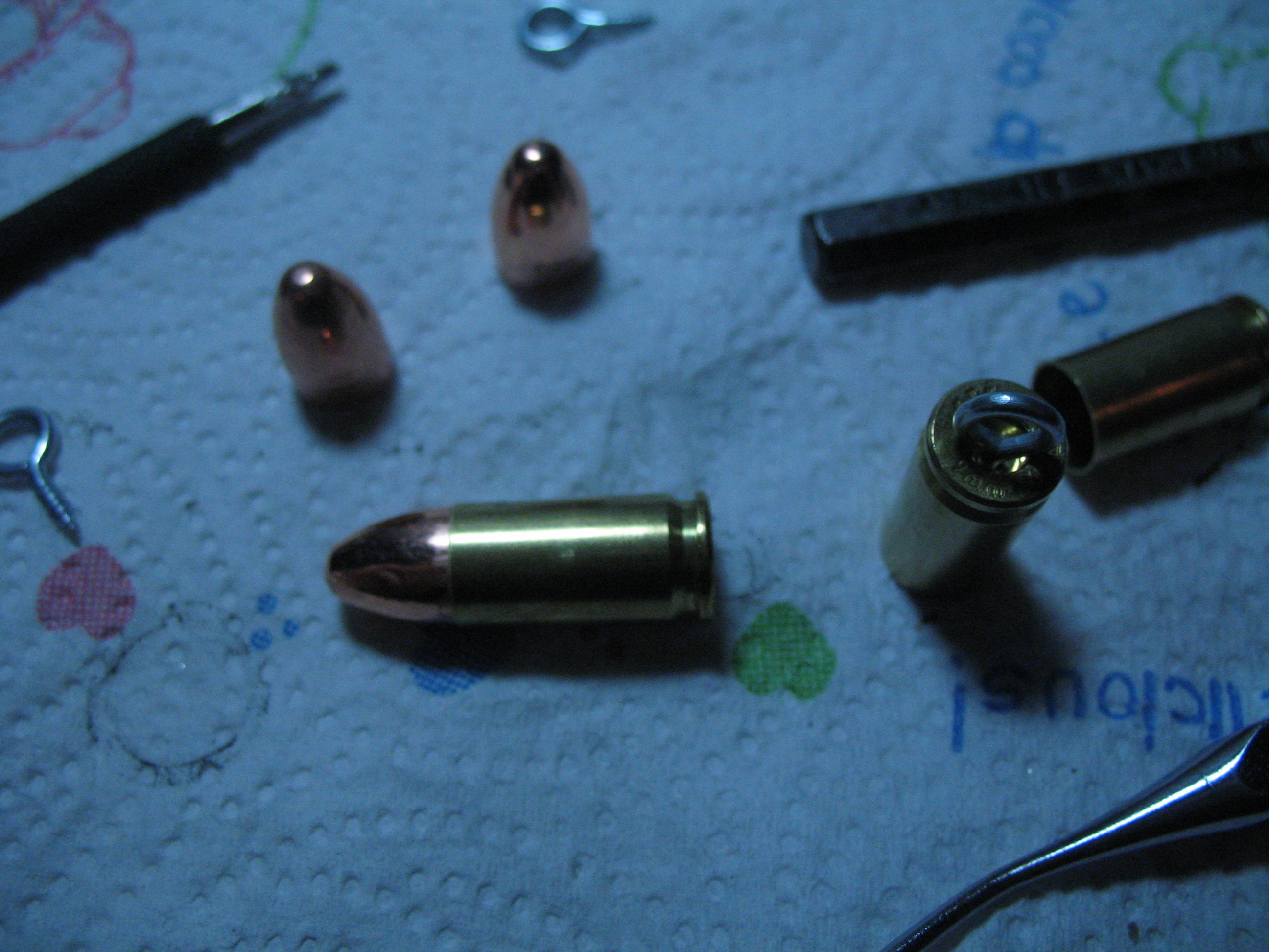 The Real Bullet Necklace or Earring