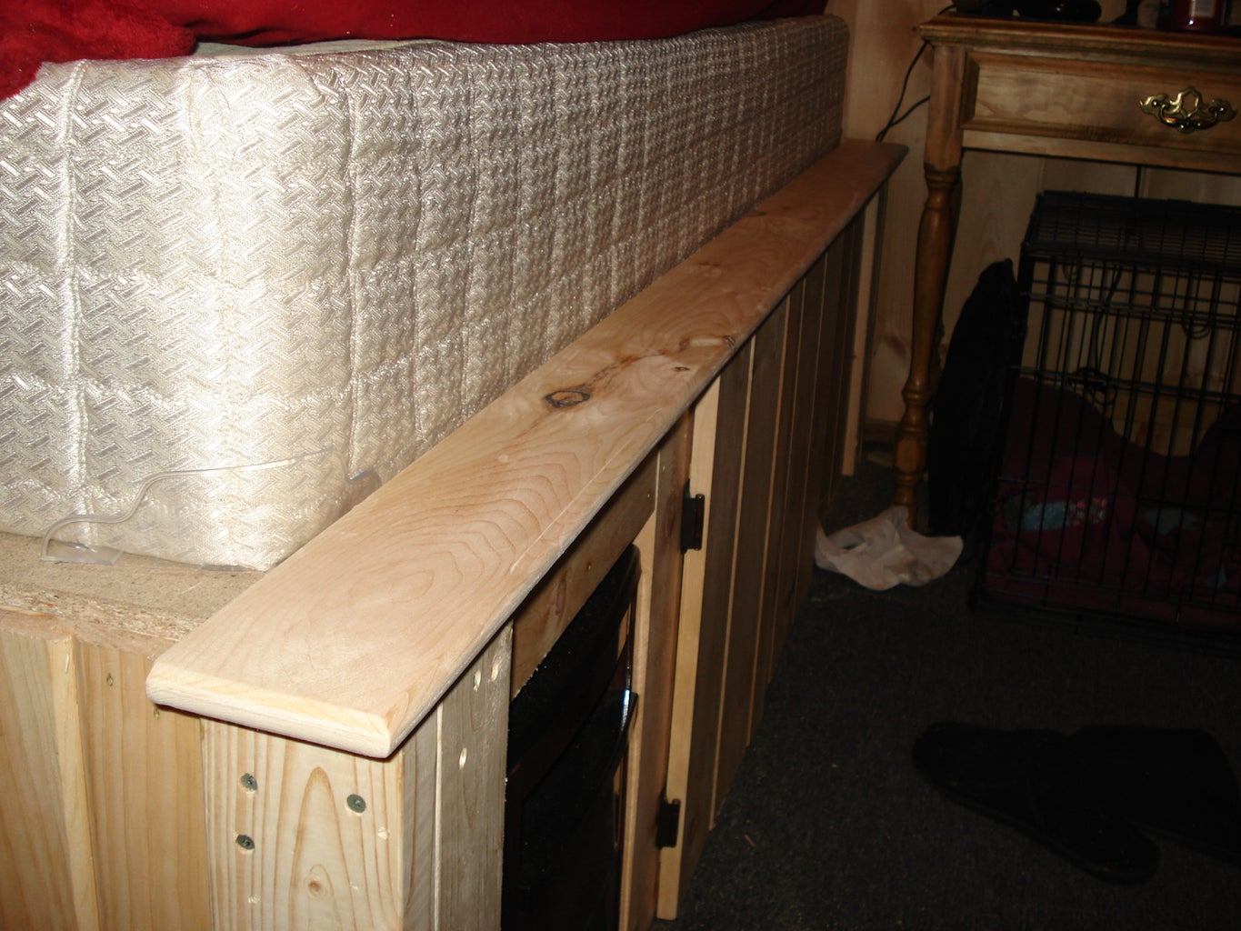 Raised Cabin Bed Frame With Hidden Space