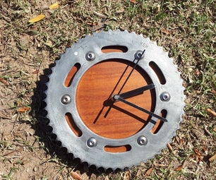 How to Make a Motorcycle Sprocket Wall Clock
