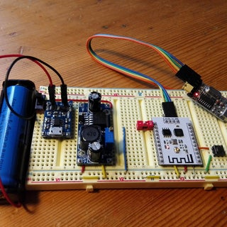 ESP8266 - Li-Ion Battery Rechargeable Battery Power Solution