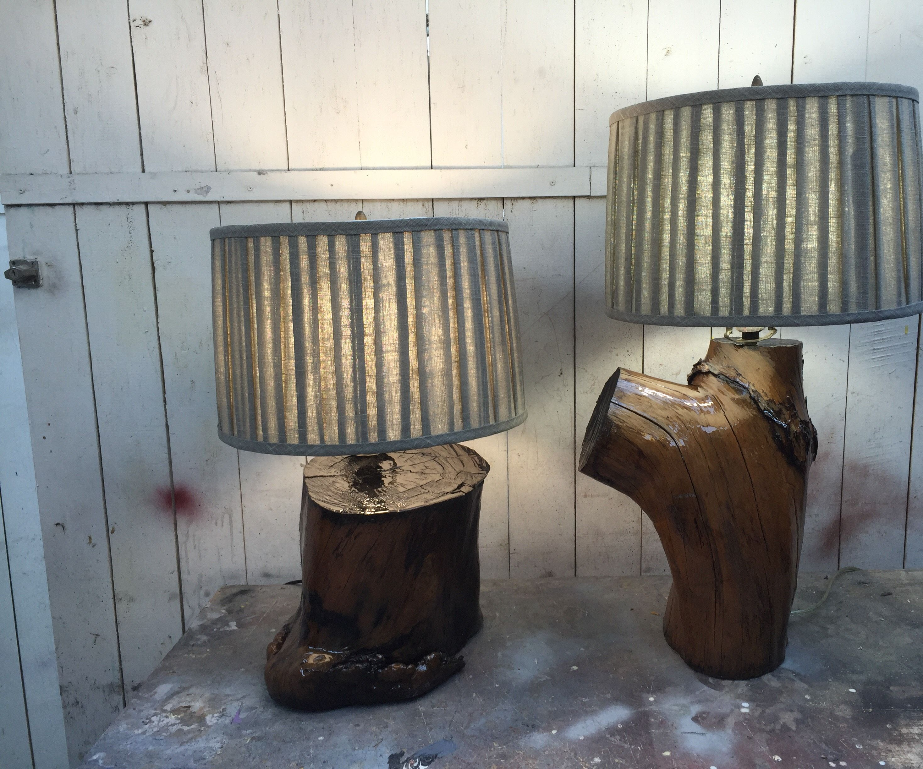 Up-cycled Lamps.