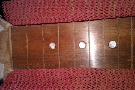 Make Fret Marker Dots and Add Them and Smooth That Fretboard