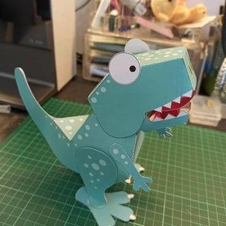 Poseable Paper T. Rex