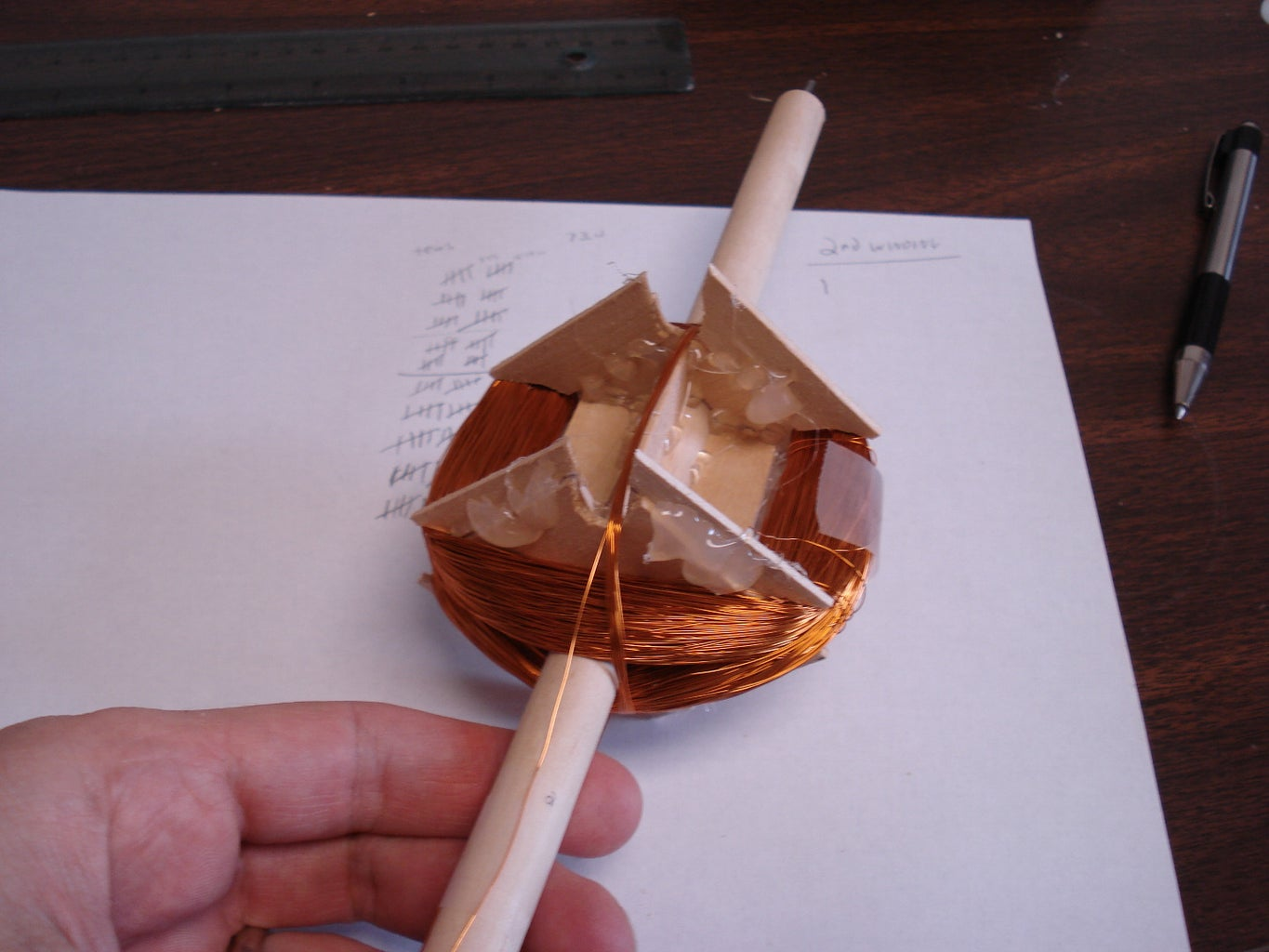Step 3: Winding Copper Wire