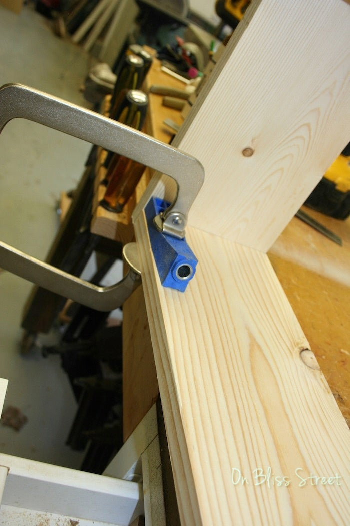 Use Pocket Holes to Strengthen Sides.