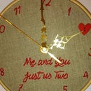Valentine's Embroidery Hoop Clock