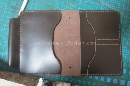 Sew Card Slot Back Leather With Surface Leather.