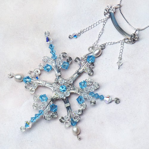 Faeries Frost Sterling Wire Pendant