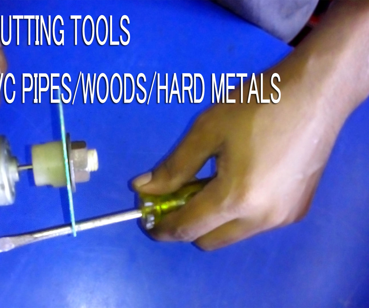 How to make original powerful DIY Homemade DREMEL Rotary tool cutting metal pvc pipes nails woods