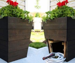 DIY Planter With Hidden Hose Storage