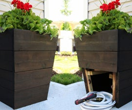 DIY Planter With Hidden Hose Storage