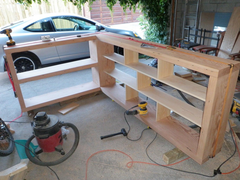 Building the Shelves.