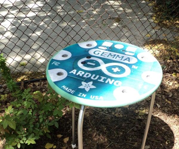 Giant Arduino GEMMA Side Table