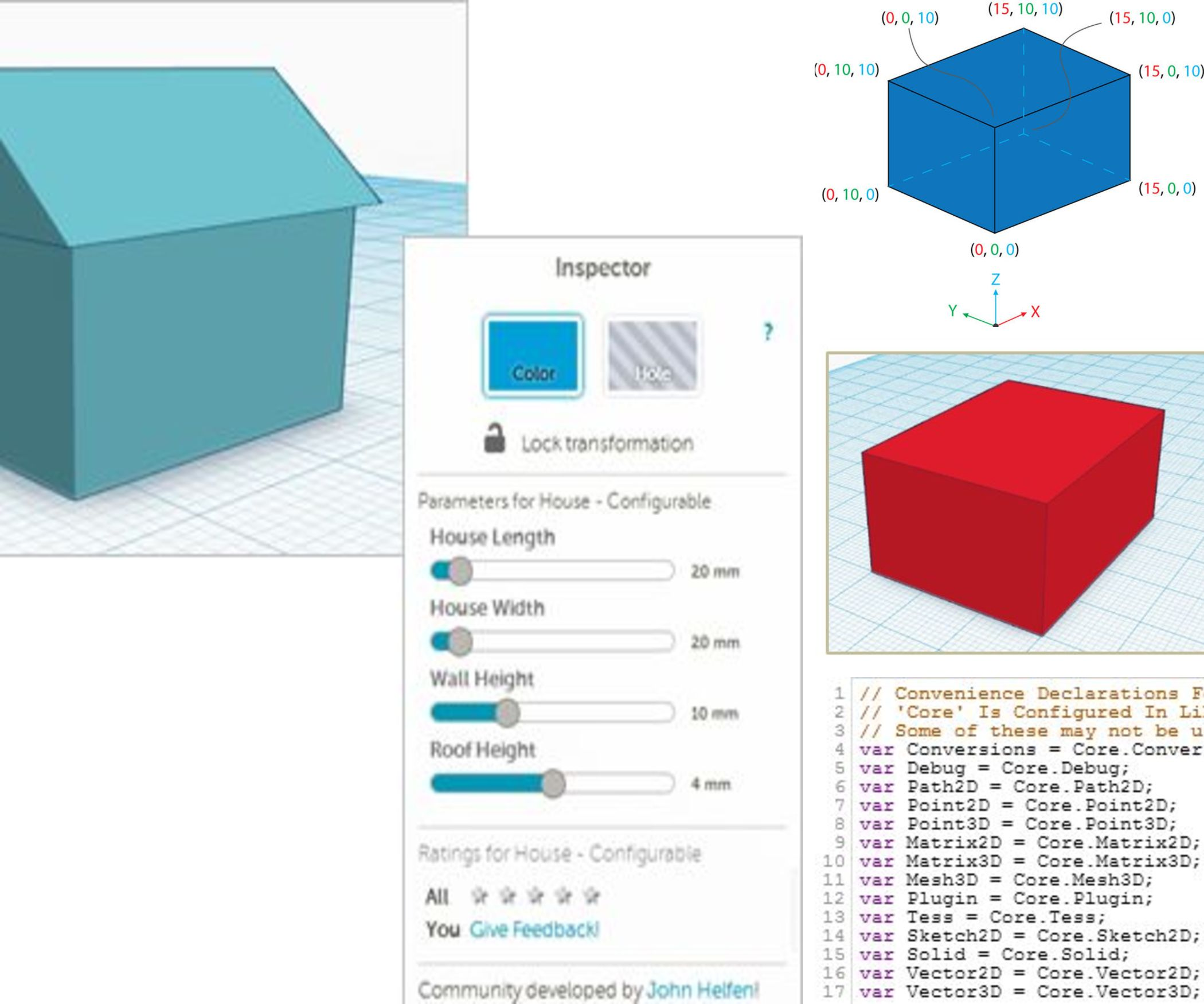 Tinkercoding a House With Shape Generators