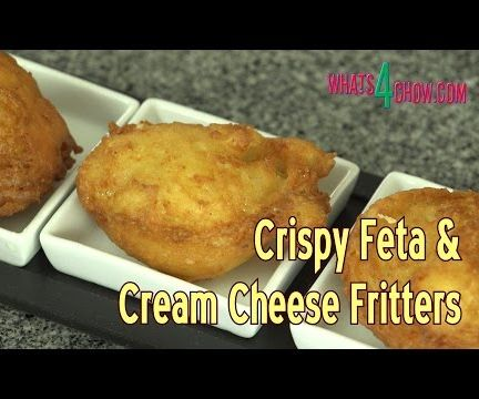 Crispy Feta and Cream Cheese Fritters - Light & Airy Cheese Fritters Deep-Fried to Golden Perfection