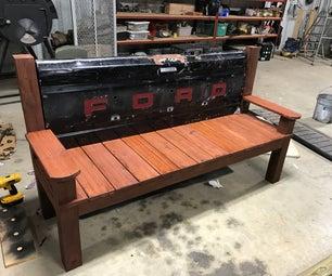 Trashy Tailgate Bench