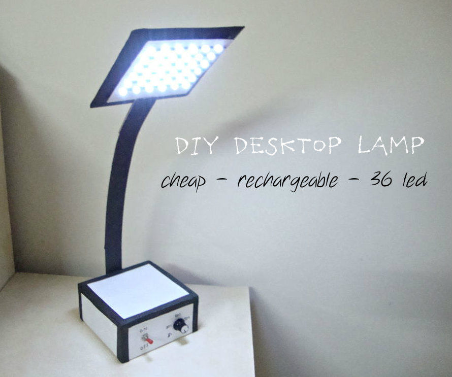 Make Your Own Desktop LED Lamp