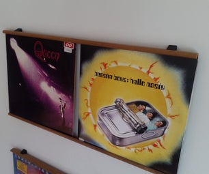 Simple and Smart Shelf/Frame for Your Vinyl Records