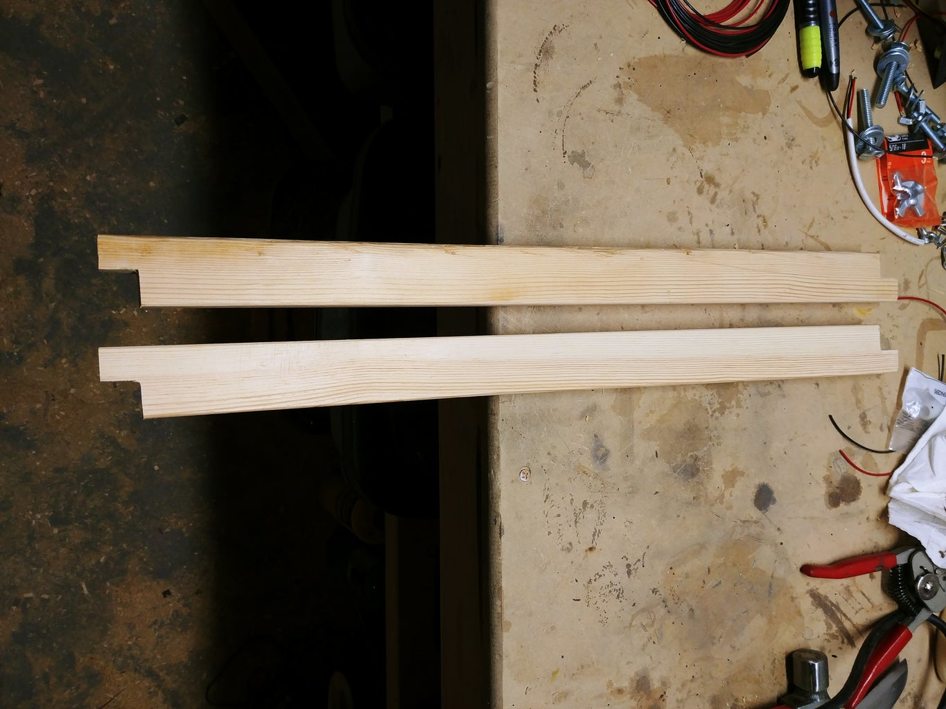 Making the Lamp Arms and Clamp