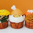 Thanksgiving Dinner Cupcakes.