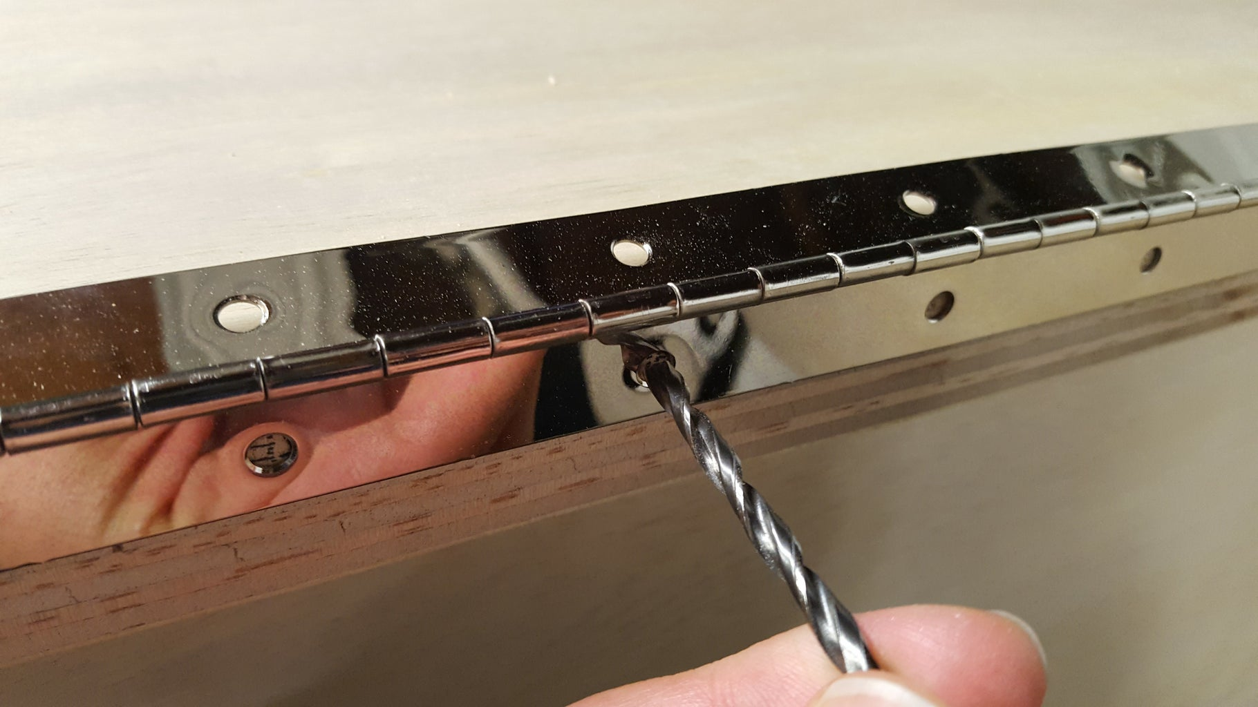 Attach Piano Hinges