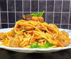 Spaghetti With Vegan Meat Balls