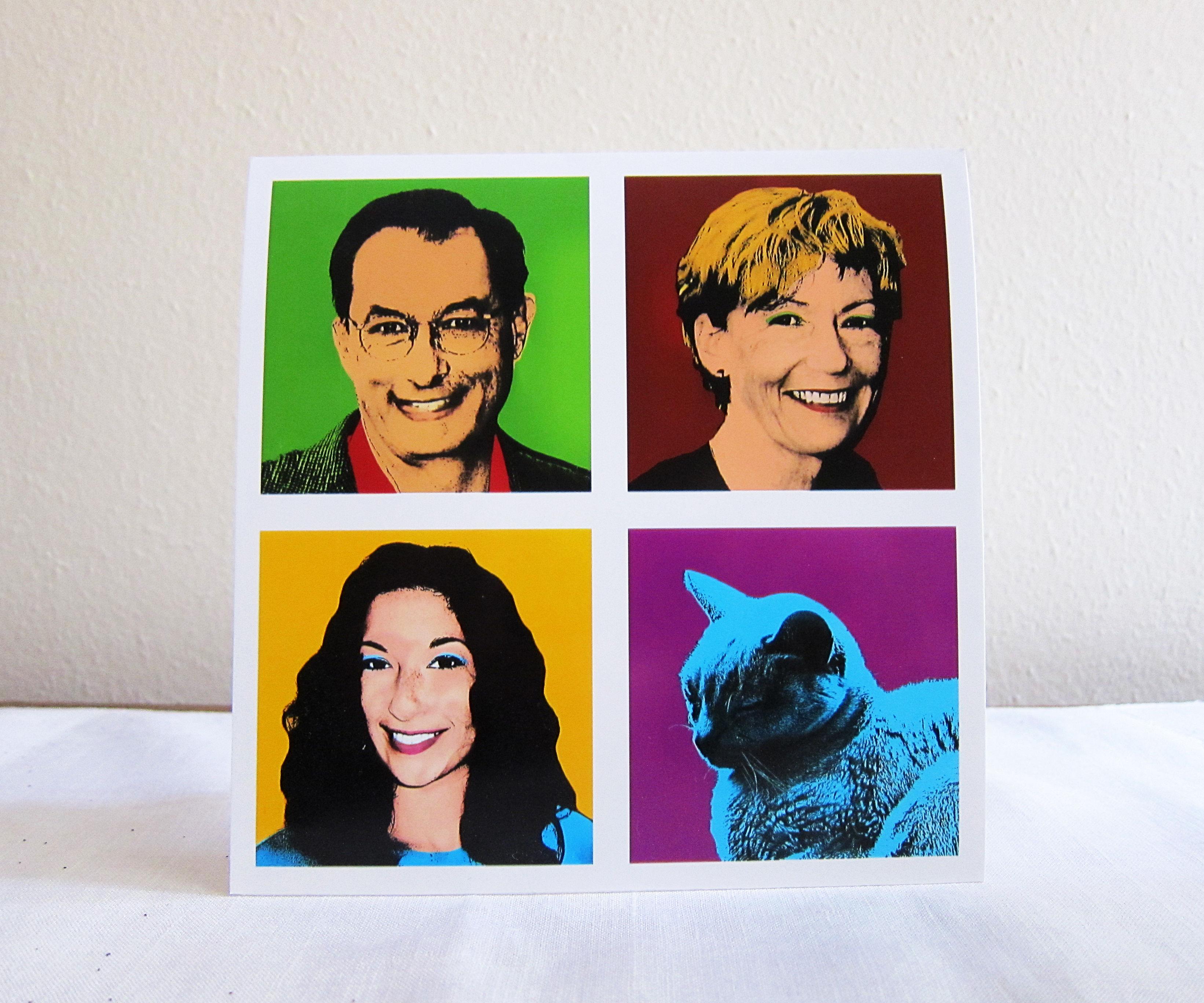 Create an Andy Warhol Style Card