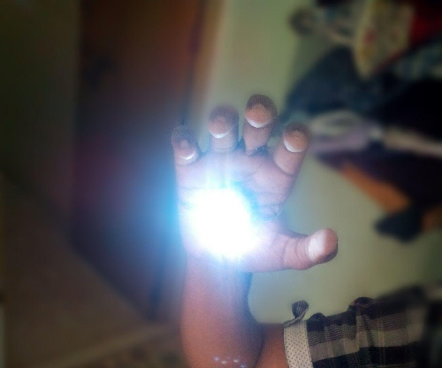 IRON MAN themed rechargeable flesh light