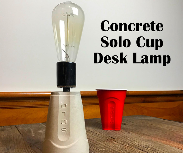 How to Make a Simple Concrete Desk Lamp