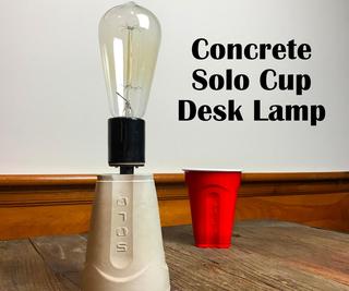 如何制作一个简单的混凝土台灯