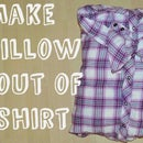 Make a bow pillow out of shirt (no sew or glue)