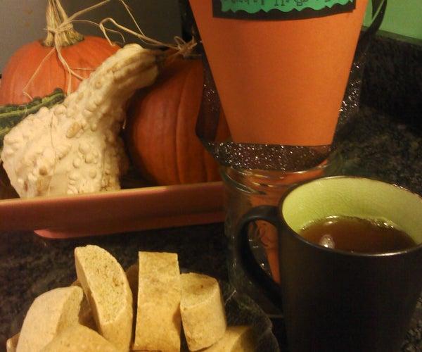 Pumpkin Biscotti & Treat Cone