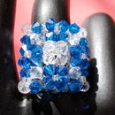 See how to make a Square Crystal Ring