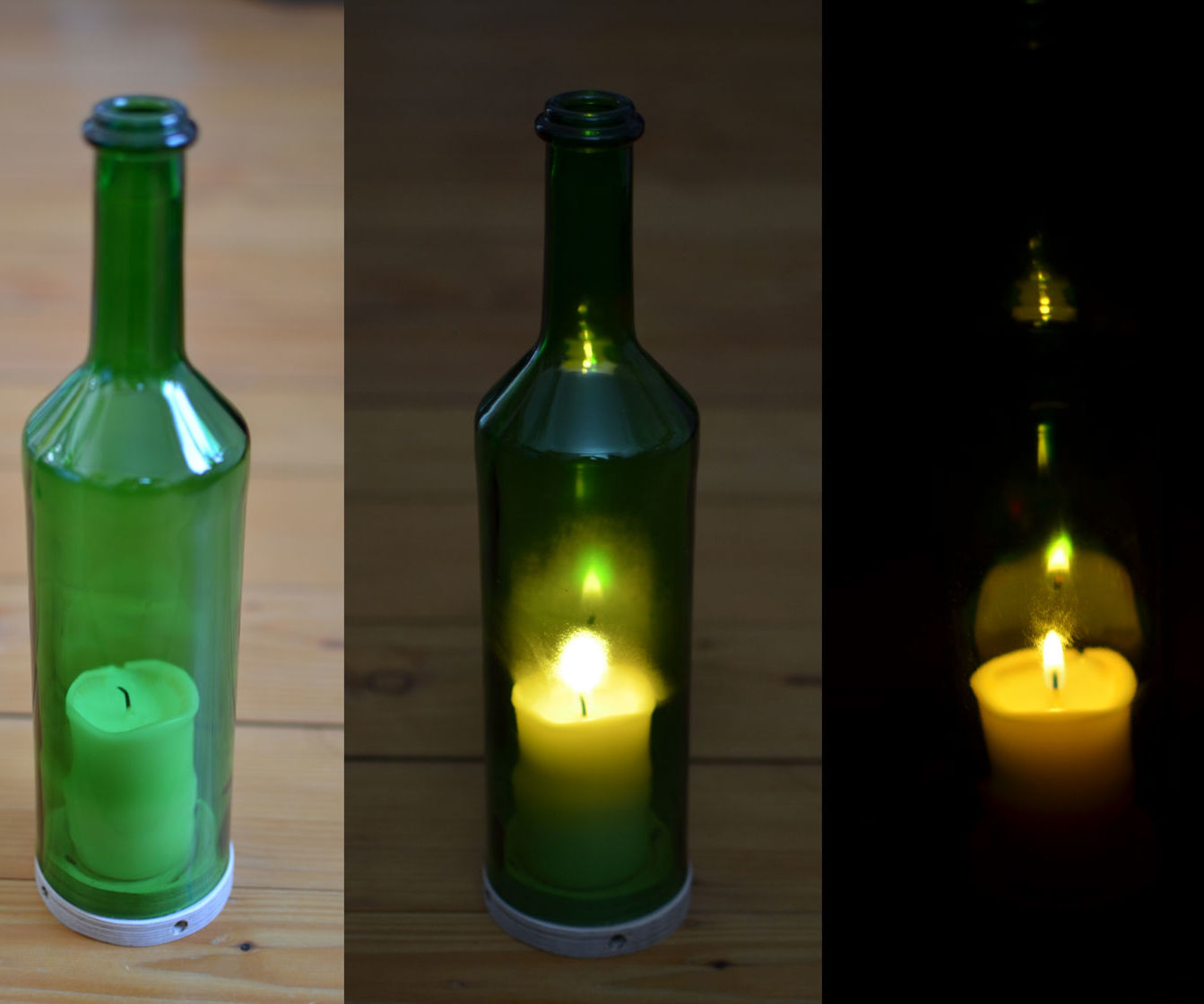 Candle in a Wine Bottle