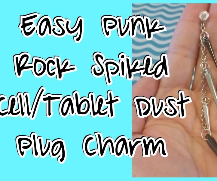 Easy Punk Rock Spiked Cell/Tablet Dust Plug Charm