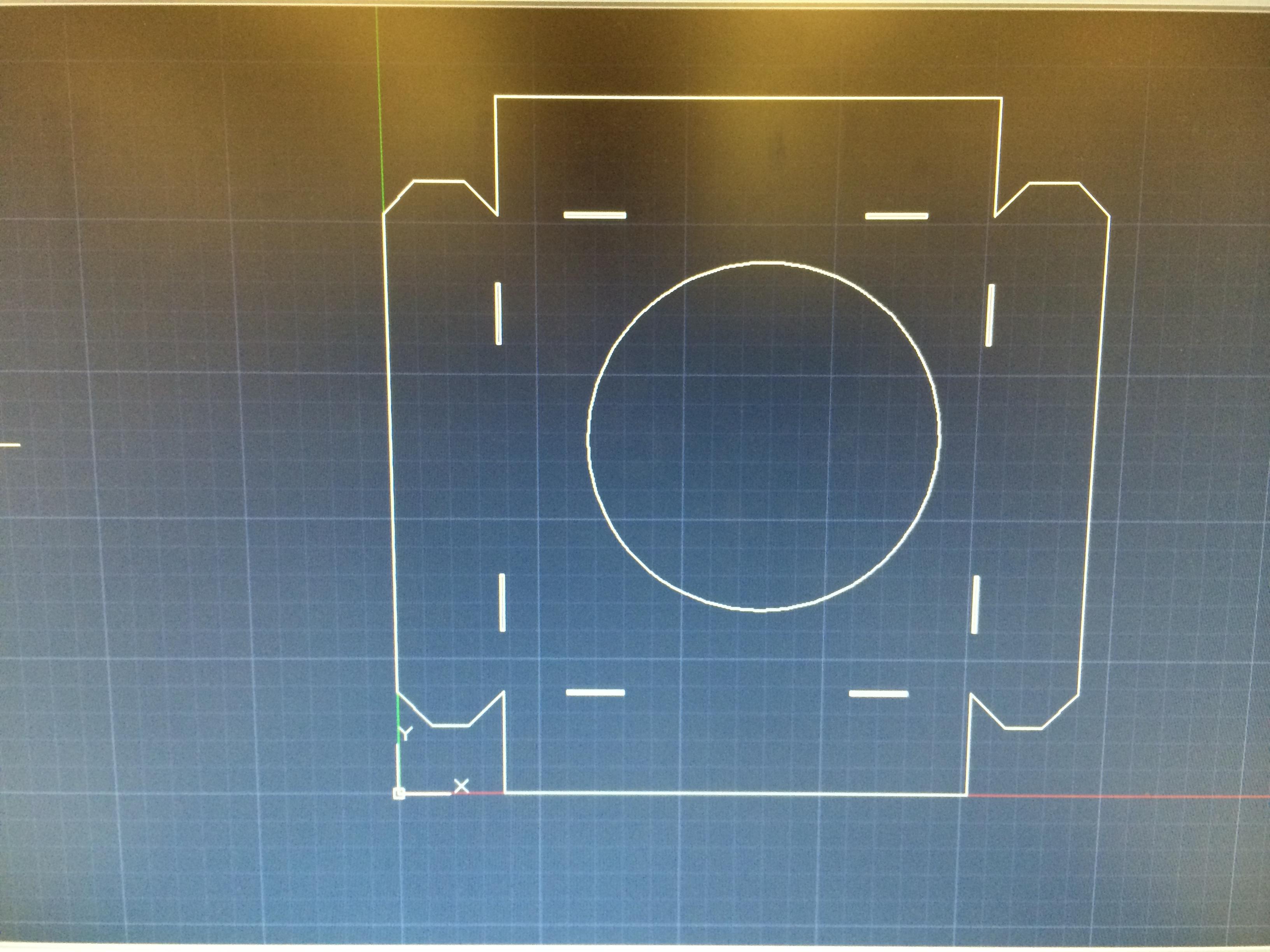 Laser cut a template for a sheetmetal box (flat pattern)