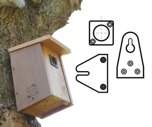 Bird Box Hanger / Mounting Bracket / Hole Plate - Recycled Filament