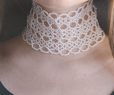 Detailed Pandahall Tutorial on How to Make a White Pearl Beaded Collar Necklace