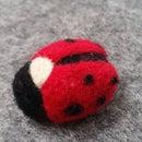Needle Felted Ladybug