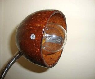 Luminaria De Coco / Coconut Desk Lamp