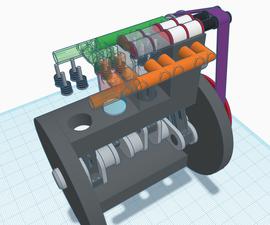 4-Cylinder, 2-Stroke Diesel Engine (Make It Move)