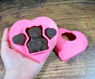情人节巧克力熊