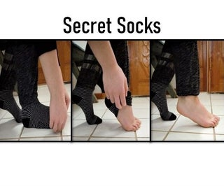 Secret Socks (Never Be Without Socks Again!)