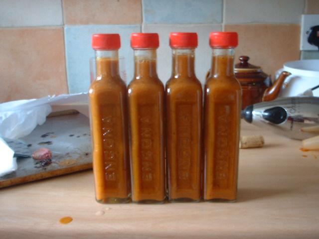 Roasted Hot Pepper Sauce (original recipe)