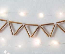 Diy Gold Garland With Pipette