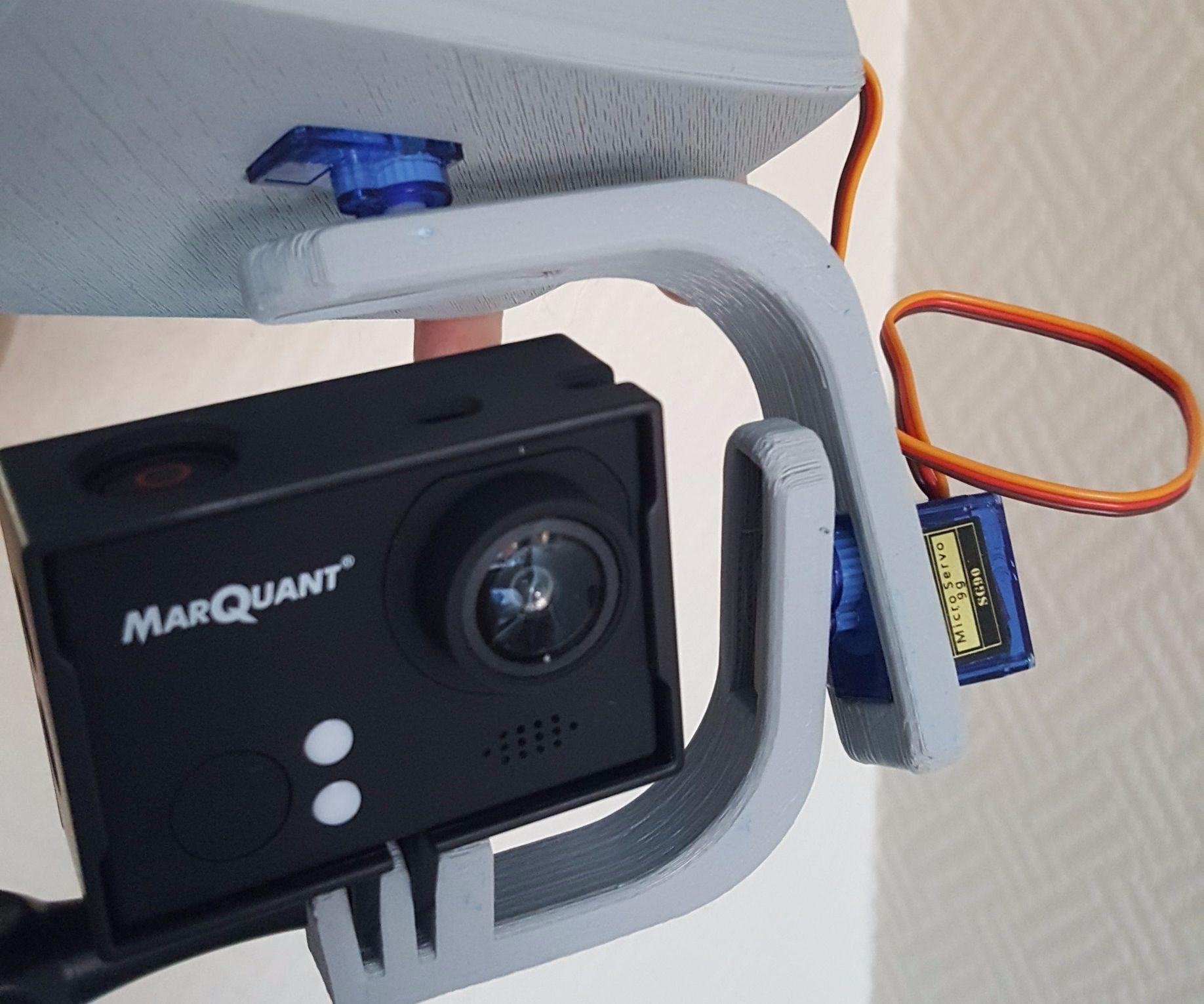 Camera gimbal using micro servos and arduino