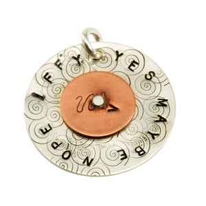 Sit and Spin Riveted Pendant From  at Beaducation - Step by Step Jewelry Making Video Tutorials