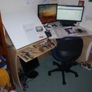 Computer desk and drawing board