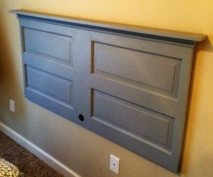 DIY Headboard From Reclaimed Door