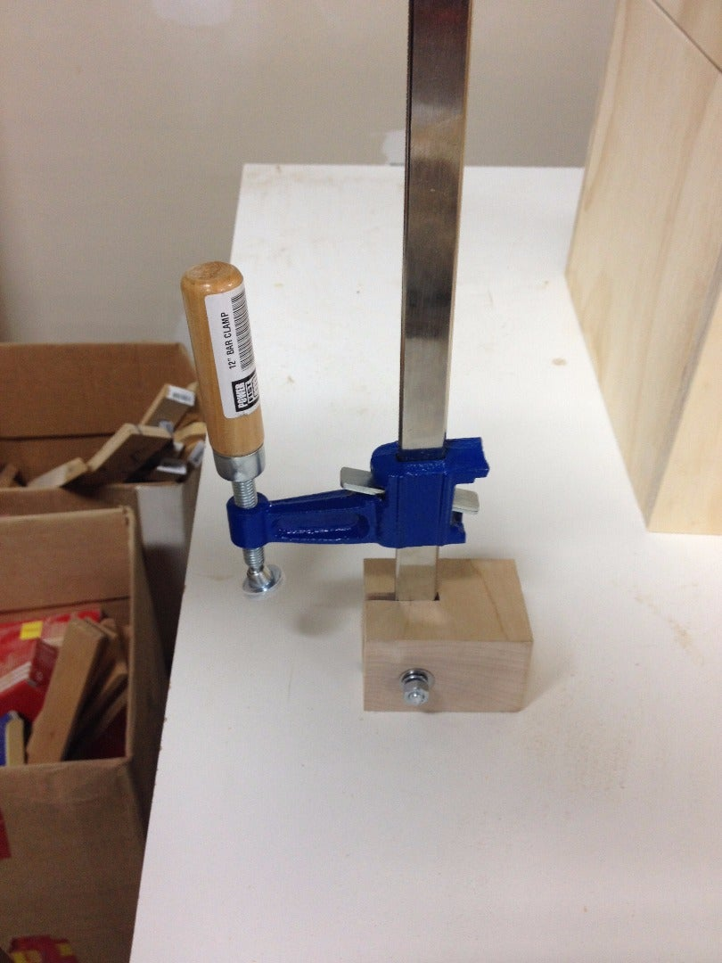 Drill the Blocks and Attach the Clamps